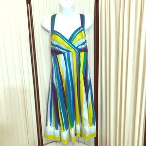 Calvin Klein watercolor halter dress size 8